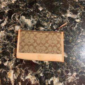 Coach coin wallet beige